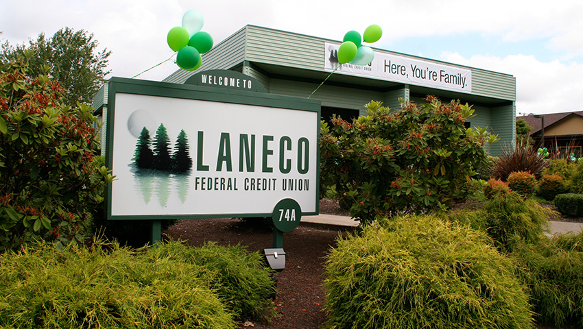Laneco building and main sign